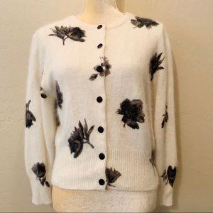 Express Tricot Angora Rabbit Hair Cardigan Sweater